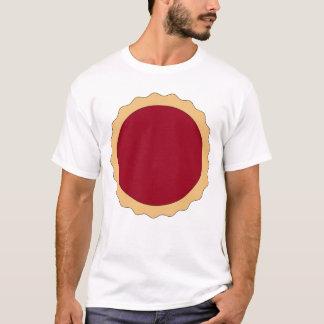 T-shirt Tarte de confiture. Rouge de framboise