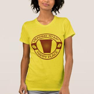 T-shirt tasse heureuse de starbuck de thé de café