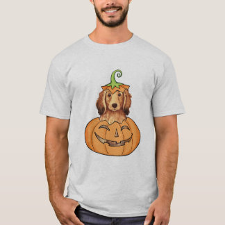 T-shirt Teckel à cheveux longs de Halloween