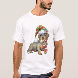 T-shirt Teckel à poils durs heureux de Howlidays