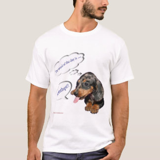 """T-shirt Teckel """"d'attitude de chiot"""""""