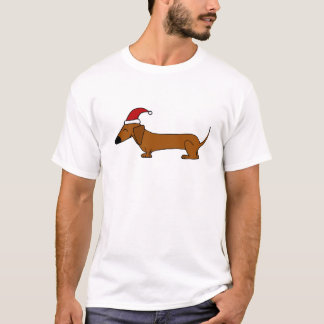 T-shirt Teckel drôle dans la bande dessinée de Noël de