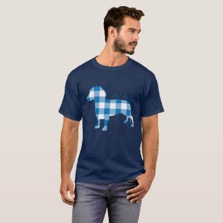 T-shirt Teckel mignon de plaid
