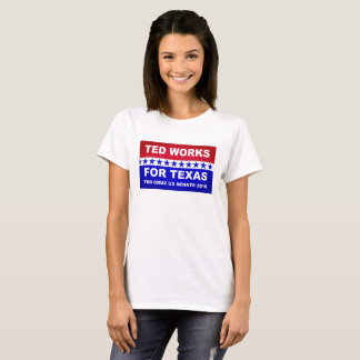 T-shirt Ted fonctionne pour la conception blanche du Texas