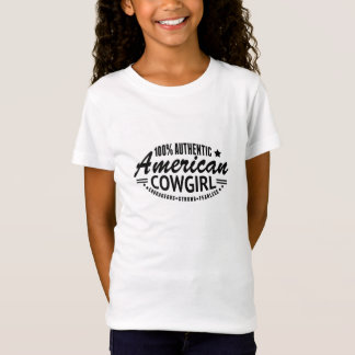 T-Shirt Tee - shirt américain authentique de cow-girl de