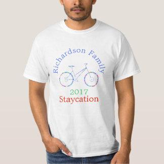 T-shirt Tee - shirt coloré de Staycation de famille de