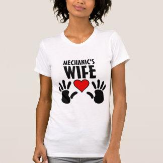 T-shirt Tee - shirt de dames de l'épouse du mécanicien