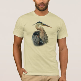 T-shirt Tee - shirt de héron de grand bleu
