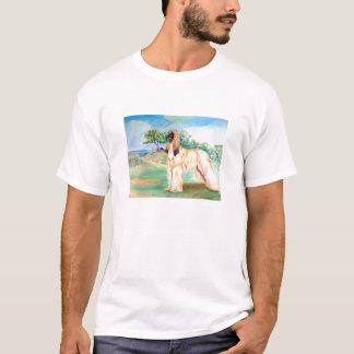 T-shirt Tee - shirt de lévrier afghan