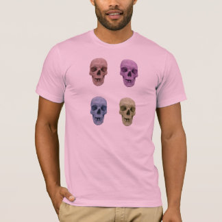 T-shirt Tee - shirt de popart de crâne