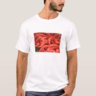 T-shirt Tee - shirt frais d'adulte de crevettes roses