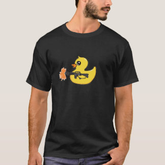 T-shirt Tee - shirt mignon en caoutchouc de mitrailleuse