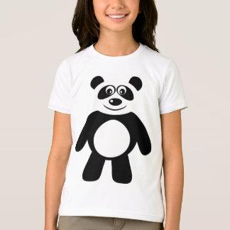 T-shirt Tee - shirt noir et blanc de panda mignon de bande