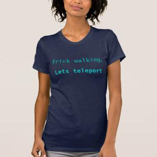 T-shirt télé- à la chemise de port