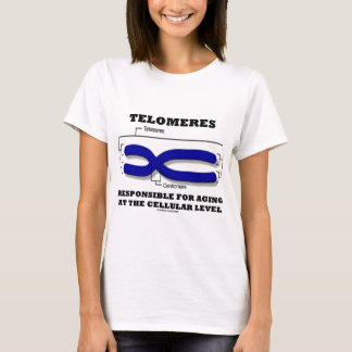 T-shirt Télomères responsables du vieillissement au niveau