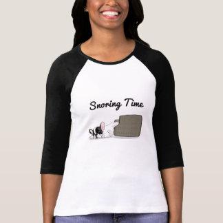 T-shirt Temps de ronflement de bouledogue français