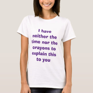 T-shirt Temps et crayons