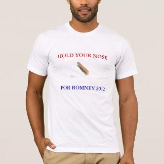 T-shirt Tenez votre nez pour Romney 2012