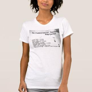 T-shirt Termes archéologiques expliqués
