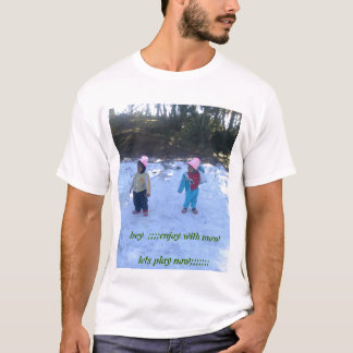 T-shirt terre neigeuse