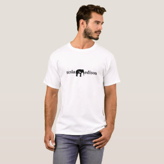 T-shirt Tesla plus grand qu'Edison - la pièce en t légère