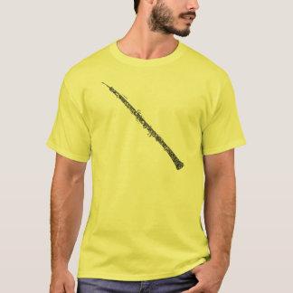 T-shirt Texte de noir d'art de mot formé par hautbois