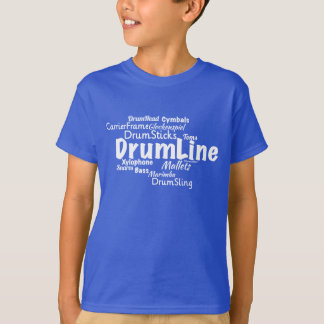 T-shirt Texte de Whte de nuage de mot de Drumline