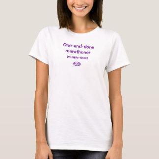T-shirt Texte pourpre : marathoner un-et-fait