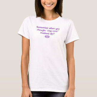 T-shirt Texte pourpre : Rappelez-vous quand l'immersion