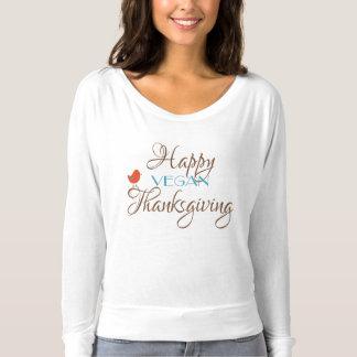 T-shirt Thanksgiving végétalien heureux