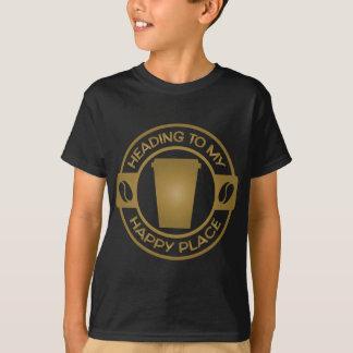 T-shirt thé heureux starbucks de café d'endroit