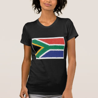 T-shirt Thème de drapeau de l'Afrique du Sud