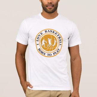 T-shirt Thème du basket-ball des hommes