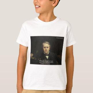 T-shirt Thomas Edison cadeaux de citation de sagesse de