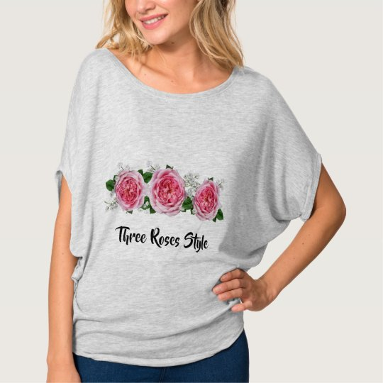 T-shirt Three Roses Style