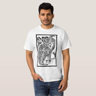 T-shirt Tigre coréen d'art populaire