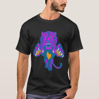 T-shirt Tigre de attaque subit féroce vintage du tigre 80s