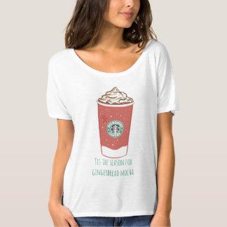 T-shirt Tis la saison pour le moka de pain d'épice
