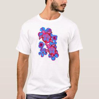 T-shirt Tortues de Honu et fleurs tropicales de ketmie