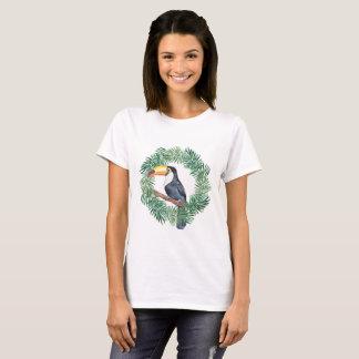 T-shirt Toucan et palmettes vertes