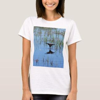 T-shirt Tour d'adresse noir d'oiseau