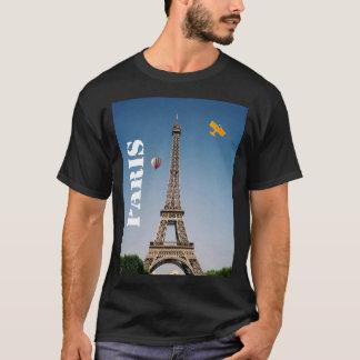 T-shirt Tour Eiffel foncé de base de Paris France du