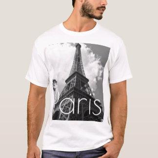 T-shirt Tour Eiffel noir et blanc à Paris