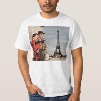 T-shirt Touristes vintages voyageant dans Tour Eiffel de