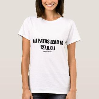 T-shirt Tous les chemins mènent à 127.0.0.1 (la mise en