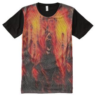 T-shirt Tout Imprimé Art foncé d'imaginaire d'horreur de la mort