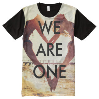 T-shirt Tout Imprimé Copie de coeur de Highlanderz partout