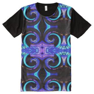 T-shirt Tout Imprimé Couleurs de tourbillonnement 01,2