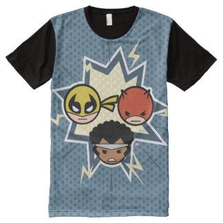 T-shirt Tout Imprimé Défenseurs de Kawaii