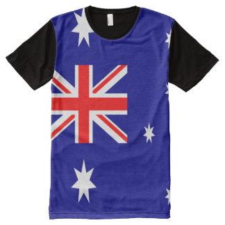 T-shirt Tout Imprimé Drapeau australien complètement